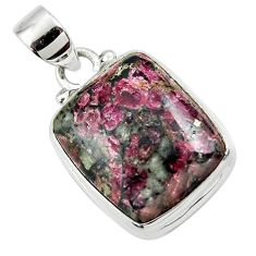 14.15cts natural pink eudialyte 925 sterling silver pendant jewelry r46237