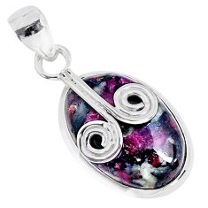 12.53cts natural pink eudialyte 925 sterling silver pendant jewelry r94606