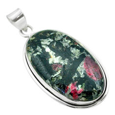 25.41cts natural pink eudialyte 925 sterling silver pendant jewelry t53789