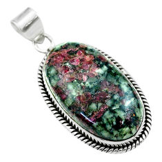 24.38cts natural pink eudialyte 925 sterling silver pendant jewelry t53792