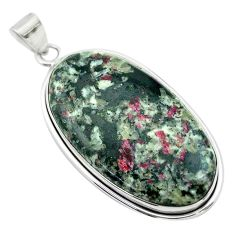 32.48cts natural pink eudialyte 925 sterling silver pendant jewelry t53794