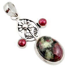 14.93cts natural pink eudialyte garnet 925 sterling silver pendant r42983