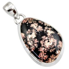 15.65cts natural pink firework obsidian 925 sterling silver pendant d42042