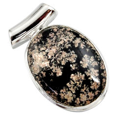 18.70cts natural pink firework obsidian 925 sterling silver pendant r27874