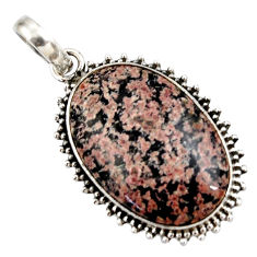 18.15cts natural pink firework obsidian 925 sterling silver pendant r27879