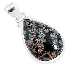 10.65cts natural pink firework obsidian 925 sterling silver pendant r94231