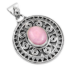 5.50cts natural pink kunzite 925 sterling silver pendant jewelry r20299