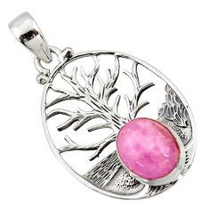5.02cts natural pink kunzite 925 sterling silver pendant jewelry r42023