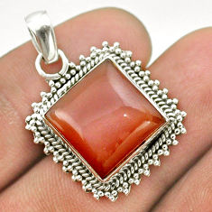 12.96cts natural pink moonstone 925 sterling silver pendant jewelry t53381