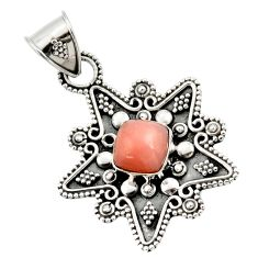 3.15cts natural pink opal 925 sterling silver pendant jewelry d45406