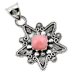 Clearance Sale- 3.01cts natural pink opal 925 sterling silver pendant jewelry d45407