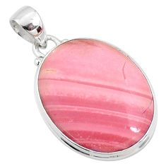 13.70cts natural pink opal 925 sterling silver pendant jewelry r66206