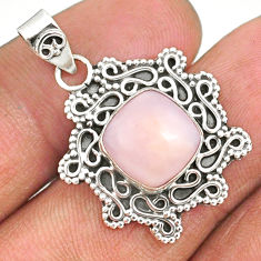4.67cts natural pink opal 925 sterling silver handmade pendant r85088