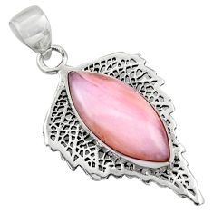 12.34cts natural pink opal marquise 925 sterling silver pendant jewelry r39157