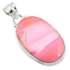 13.70cts natural pink opal oval 925 sterling silver pendant jewelry r66255