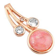 Natural pink opal topaz 925 sterling silver 14k rose gold pendant a68345 c14131