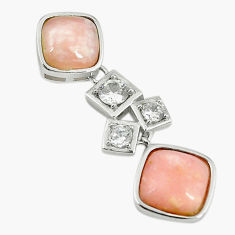Natural pink opal topaz 925 sterling silver pendant jewelry a68452 c14116