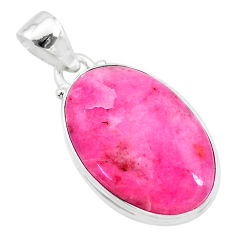 14.23cts natural pink petalite 925 sterling silver pendant jewelry t21522