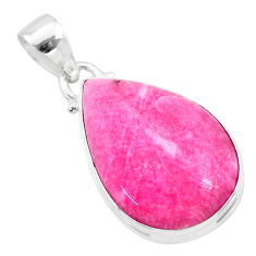 14.07cts natural pink petalite 925 sterling silver pendant jewelry t21526