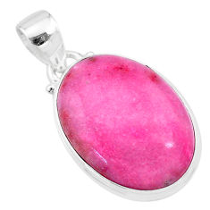 14.23cts natural pink petalite 925 sterling silver pendant jewelry t21529