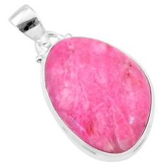 17.18cts natural pink petalite 925 sterling silver pendant jewelry t21536