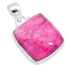 16.48cts natural pink petalite 925 sterling silver pendant jewelry t21541