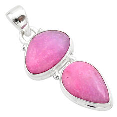 9.86cts natural pink petalite 925 sterling silver pendant jewelry t42021