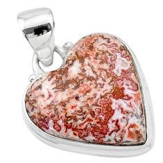 14.12cts natural pink rosetta stone jasper 925 sterling silver pendant t13318