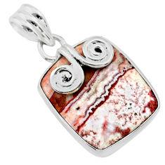 11.17cts natural pink rosetta stone jasper 925 sterling silver pendant t22761