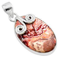 16.20cts natural pink rosetta stone jasper 925 sterling silver pendant t22764