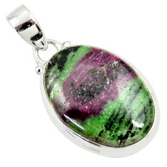 20.67cts natural pink ruby zoisite 925 sterling silver pendant jewelry r36291