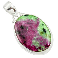 17.38cts natural pink ruby zoisite 925 sterling silver pendant jewelry r36296