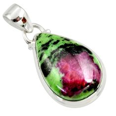 15.43cts natural pink ruby zoisite 925 sterling silver pendant jewelry r36319