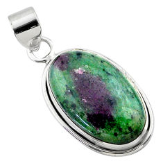 18.15cts natural pink ruby zoisite 925 sterling silver pendant jewelry t44762