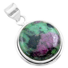 18.70cts natural pink ruby zoisite 925 sterling silver pendant jewelry t44780