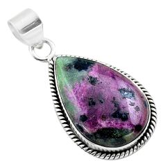 18.15cts natural pink ruby zoisite 925 sterling silver pendant jewelry t44792