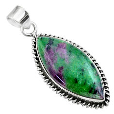 22.05cts natural pink ruby zoisite 925 sterling silver pendant jewelry t44795