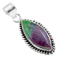 13.62cts natural pink ruby zoisite 925 sterling silver pendant jewelry t44796