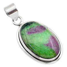 16.70cts natural pink ruby zoisite 925 sterling silver pendant jewelry t44805