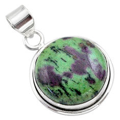 18.68cts natural pink ruby zoisite 925 sterling silver pendant jewelry t44815