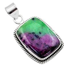 24.38cts natural pink ruby zoisite 925 sterling silver pendant jewelry t44818