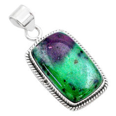 21.48cts natural pink ruby zoisite 925 sterling silver pendant jewelry t44820