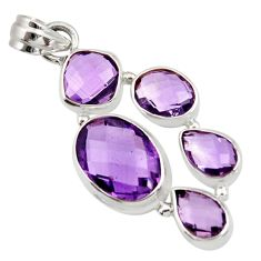 15.31cts natural purple amethyst 925 sterling silver pendant jewelry d42982
