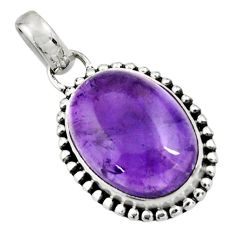 14.20cts natural purple amethyst 925 sterling silver pendant jewelry r26548