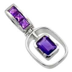 2.56cts natural purple amethyst 925 sterling silver pendant jewelry r43284