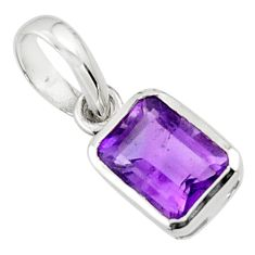 1.99cts natural purple amethyst 925 sterling silver pendant jewelry r43492
