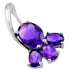 5.37cts natural purple amethyst 925 sterling silver pendant jewelry r45495