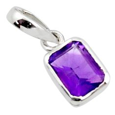 2.23cts natural purple amethyst 925 sterling silver pendant jewelry r45679