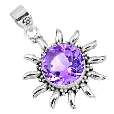 6.36cts natural purple amethyst 925 sterling silver pendant jewelry r57822