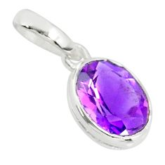 2.23cts natural purple amethyst 925 sterling silver pendant jewelry r83705
